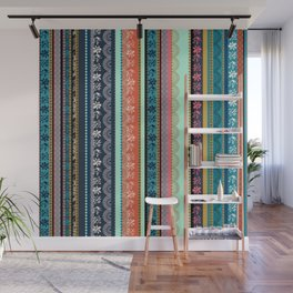 Bohemian Tribal Stripe Wall Mural