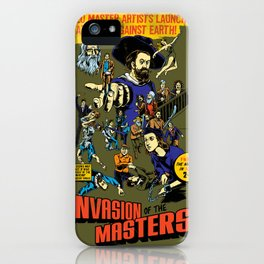 Invasion of the Masters! iPhone Case