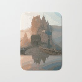 Castle In The Mist (Painting) Bath Mat