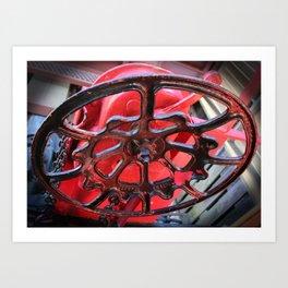Caboose Brake Wheel Art Print