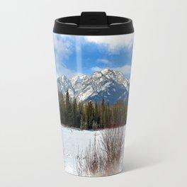 Scenic Cascade Mountain - Banff Alberta Travel Mug