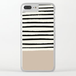 Latte & Stripes Clear iPhone Case
