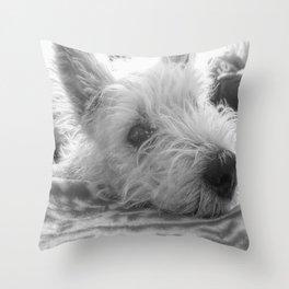 Westie puppy Throw Pillow