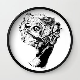 9 faces 9 Wall Clock