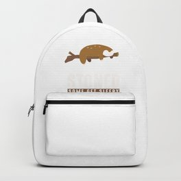 Some Get Stoned Funny Sleepy Sloth Wildlife Animals Forest Nature Zoo Wilderness Animalia Gift Backpack