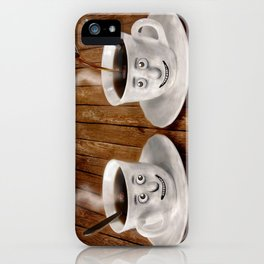Hot Coffee Time in the Kitchen iPhone Case