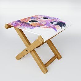 belle the lab Folding Stool