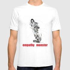 empathy monster Mens Fitted Tee White MEDIUM