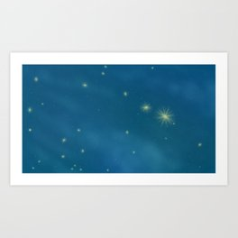 Second to the Right Art Print