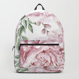 Beautiful Pink Roses Garden Backpack