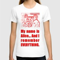 resident evil T-shirts featuring RESIDENT EVIL - ALICE REMEMBERS by Robin Stevens