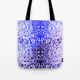 Street Floor Tiles Feeling Blue Tiger-Polka Dot...ish!_Xtreme Blue Edition Tote Bag