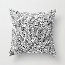Abstract Pen & Ink #3 Throw Pillow