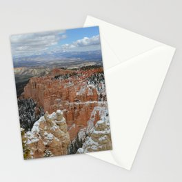 Snow in Bryce Canyon Utah Stationery Cards