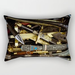 Collage - Daggers, Dirks and Sabres Rectangular Pillow