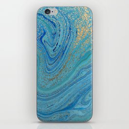 Turquoise Blue Watercolor iPhone Skin