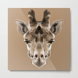 Giraffe Sym Metal Print