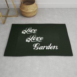 Live Love Garden - Chalkboard Messages Rug