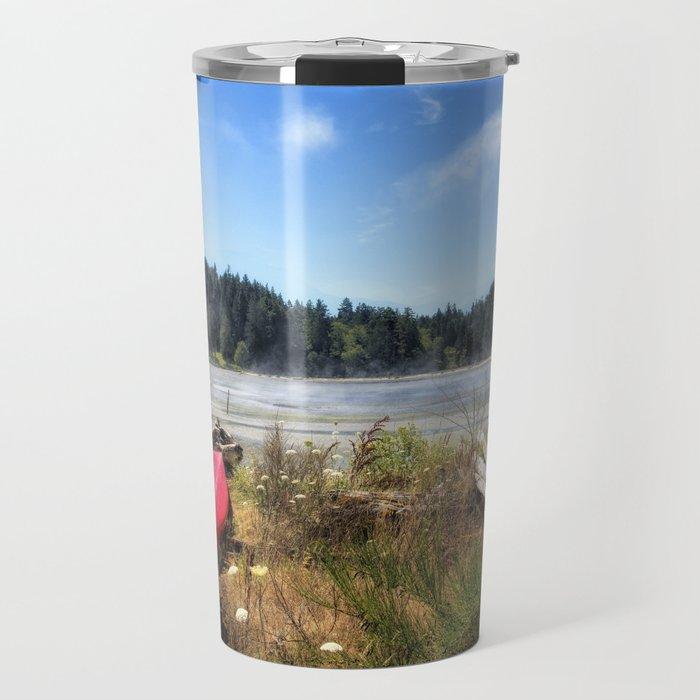 Red Kayak Travel Mug