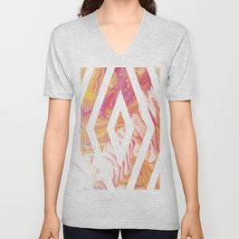 Fluid Abstract 14 Unisex V-Neck