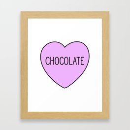 Chocolate Heart Framed Art Print