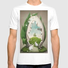 Easter egg the way to a holiday White MEDIUM Mens Fitted Tee