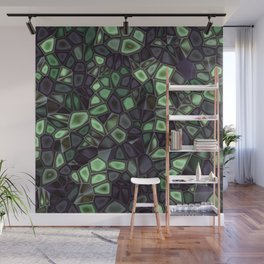 Fractal Gems 04 - Emerald Dreams Wall Mural
