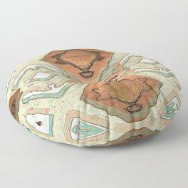 Copper Geometric Antique Floor Pillow