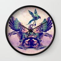 monster Wall Clocks featuring monster by Ali GULEC