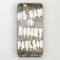 sarah paulson iPhone & iPod Skins featuring HIS NAME IS ROBERT PAULSON. by SoNearlyOriginal