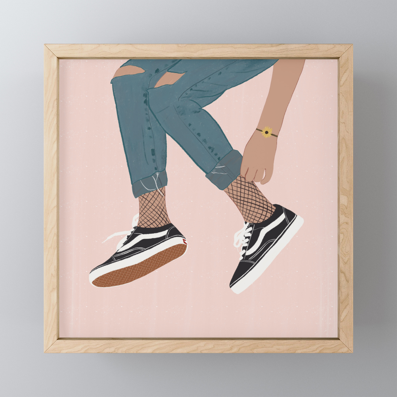 Vans Lover Framed Mini Art Print by zaynabmuglx