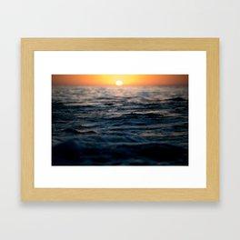 Newport Beach Sunset  Framed Art Print