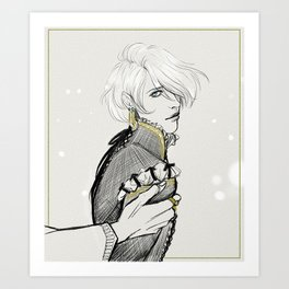 Captive Prince: Laurent of Vere Sketch Art Print