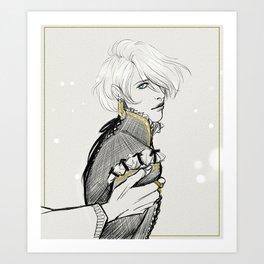 Captive Prince: Laurent of Vere Sketch Art Print