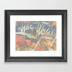 War Of The Worlds Script Print Framed Art Print