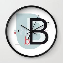 B b Wall Clock
