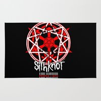 sith Area & Throw Rugs featuring Sithknot (People=Sith) by Ant Atomic