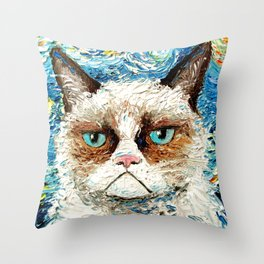 Grumpy Cat Is Still Grumpy Throw Pillow