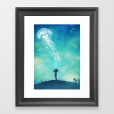 The Thing About Jellyfish  Framed Art Print