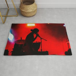 Rock Concert Silhouette Rug