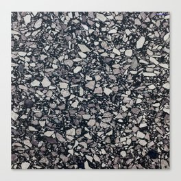 terrazzo shades of grey Canvas Print