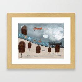 the travelling magic circus Framed Art Print