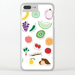 ABC Fruit and Vege Clear iPhone Case