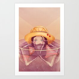 Summer Drink Art Print