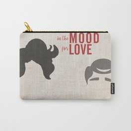 In the mood for love, minimal movie poster, Wong Kar-wai, Tony Leung, Maggie Cheung, Hong Kong film Carry-All Pouch