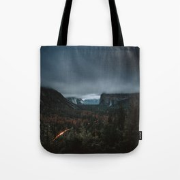Moody Yosemite Valley - Tunnel View Tote Bag