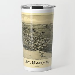 Aerial View of St. Mary's, West Virginia (1899) Travel Mug