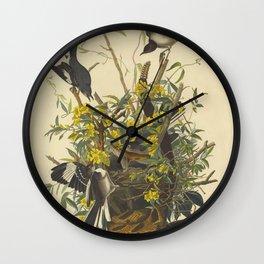 The MOCKING BIRD and RATTLESNAKE Audubon Wall Clock