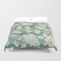 sakura Duvet Covers featuring Sakura by Maria Durgarian