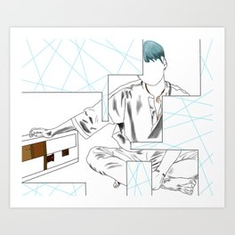 BTS Suga 'Her' Design Art Print